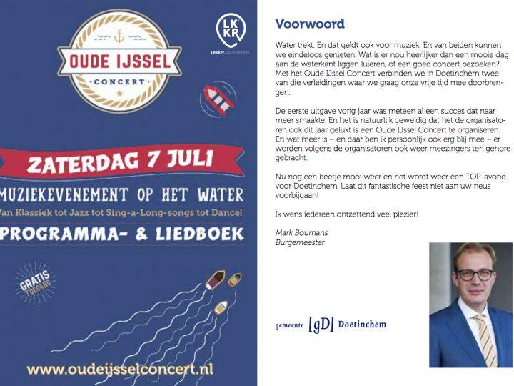 Hét Oude IJssel Concert Programma- en Liedboek 2018!